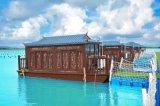 出售山東水上客房船移動木船屋 景區樂園木船旅館房船