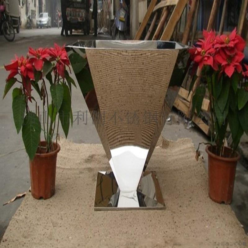 不锈钢花箱不锈钢花盆定制加工厂家