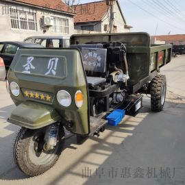 低油耗载重2吨三轮车/定制后双排轮三马车