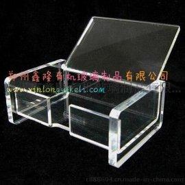 有机玻璃名片盒收纳盒桌面笔筒展架全国发货