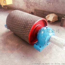 煤矿阻燃包胶改向滚筒 皮带机包胶改向滚筒
