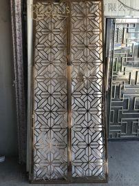 佛山歐式別墅不銹鋼屏風/激光鏤空不銹鋼隔斷設計定制