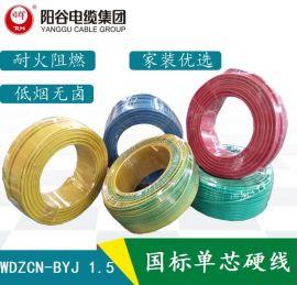 日辉电缆 WDZCN-BYJ 低烟无卤阻燃耐火