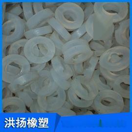 白色耐高温硅胶垫  圆形硅胶垫块 硅胶防震垫