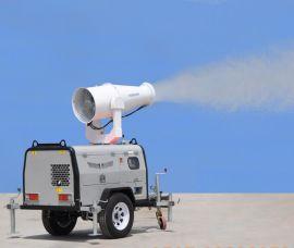 破除霧霾神器 路得威拖車式噴霧降塵機
