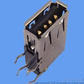 连接器 USB A/F 侧插90度