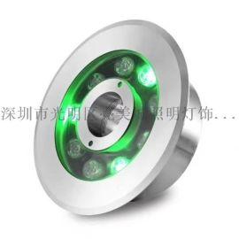 LED水底燈水池燈水下燈9W噴泉燈游泳池射燈涌泉燈