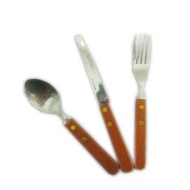木柄不锈钢刀叉勺套装 出口韩国餐具刀叉勺