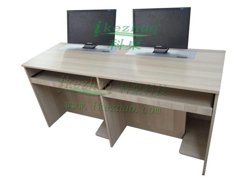 电脑升降桌办公升降电脑桌机房电脑升降桌部队培训电脑桌多媒体升降桌