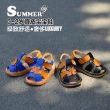 小螺号夏季真皮软底婴儿学步鞋宝宝凉鞋男女童凉鞋叫叫鞋0-2岁