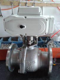 廣東鴻閥HFAQ941F-16電動法蘭球閥