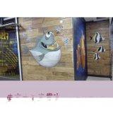 南京烤全鱼主题餐厅墙绘QH-05 专业手绘墙艺术字彩绘