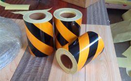 道路施工围挡反光膜黑黄斜纹反光膜警示反光膜