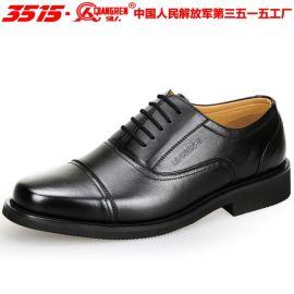 强人3515正品3515系带三接头07常服制式鞋军鞋男商务正装真皮皮鞋