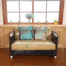 定做咖啡厅沙发甜品店桌椅北欧茶餐厅西餐厅双人卡座沙发餐桌组合