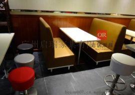 咖啡厅沙发桌椅组合网吧西餐厅奶茶店沙发美式商用卡座休闲咖啡椅