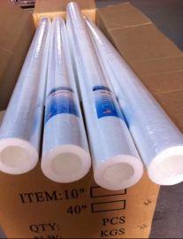 **电镀液过滤专用PP棉滤芯20寸1微米5U过滤棉芯滤水器/净水器