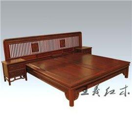 红酸枝双人床 古典婚床1.8*2米王义红木古典家具厂家