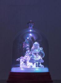 寶力晶唯美燈光耶誕節禮物 聖誕老人