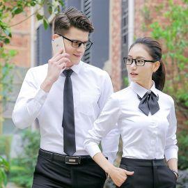工作服长袖衬衫职业正装商务衬衣银行保险客服工装
