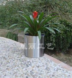 广州厂家直销定做不锈钢镜面花钵 拉丝花盆 酒店 商场装饰花器