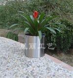 廣州廠家直銷定做不鏽鋼鏡面花鉢 拉絲花盆 酒店 商場裝飾花器