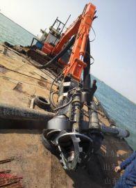 常熟水陆两用抓机绞吸采砂泵 挖掘机绞吸清淤泵什么品牌好