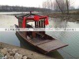 中式景区游船仿古木船手划船景观船