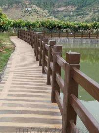 韶关始兴翁源水泥仿木纹栏杆施工、新丰乳源混凝土护栏