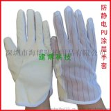 建博廠家直銷 PU防靜電手套 電子作業防護手套