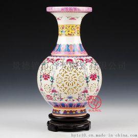 陶瓷花瓶厂家 景德镇陶瓷大花瓶定做