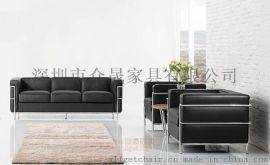 LC2办公沙发 现代时尚设计师沙发定制 真皮办公沙发批发