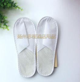 宾馆一次性无纺布拖鞋 酒店一次性拖鞋 酒店客房用品防滑拖鞋 定制一次性易耗品特价
