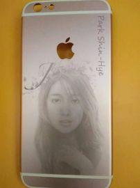 深圳氧化铝打黑激光打标机 氧化铝激光镭雕机 iPhone7后盖氧化铝激光镭射机