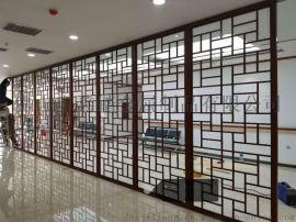 铝板仿木纹屏风客户反馈安装效果图