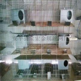 工厂直销兔子笼 养殖户专用兔笼子3层12位镀锌笼子