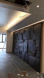 芝麻黑石材背景牆電視客廳整體背景牆廠家定做