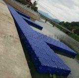 水上行人过道浮动平台  使用寿命长的塑料浮筒