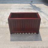 咖啡色防腐木花箱尺寸材質顏色可訂製