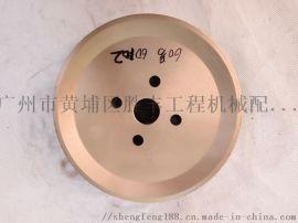 日立挖掘机高品质空调皮带轮 6D102 双槽