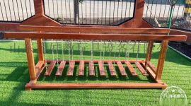 全实木荡桥 幼儿园户外实木玩具荡桥