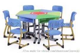 广东厂家直销学生梯形桌椅,组合学习桌,多功能学习桌