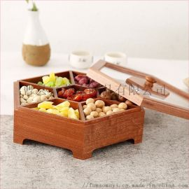 厂家直销零食收纳盒定制六角木盒实木喜盒干果盒