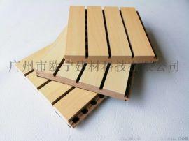 体育馆条形阻燃松木木质吸音板