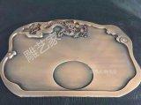 中国风铝板雕刻 雕花茶具茶盘