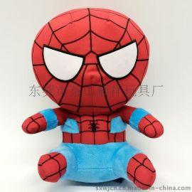 Q版蜘蛛侠公仔玩具 工厂加工公仔 玩具加工 毛绒玩具定制