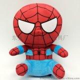 Q版蜘蛛俠公仔玩具 工廠加工公仔 玩具加工 毛絨玩具定製
