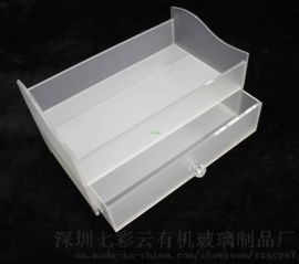 七彩云有机玻璃酒店客房2层多层多功能收纳盒