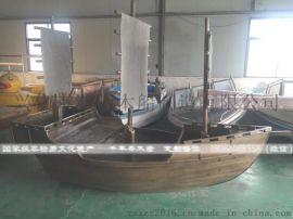 江南木船专业定做户外景观工程船 品质有保障