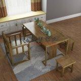全铝家具茶几现代中式带储物柜泡茶桌